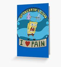 Spongebob's Gym Greeting Card
