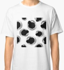 Dry brush hand drawn sketch artsy pattern black and white Classic T-Shirt