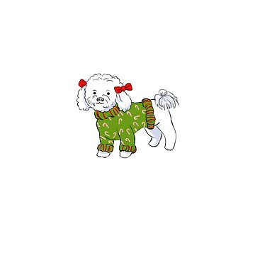 Candy Cane Bichon by catherinehom