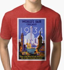 Vintage poster - Chicago Tri-blend T-Shirt