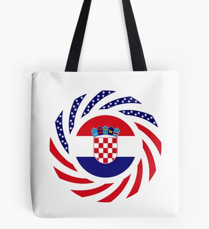 Croatian American Multinational Patriot Flag Series Tote Bag