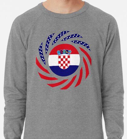 Croatian American Multinational Patriot Flag Series Lightweight Sweatshirt