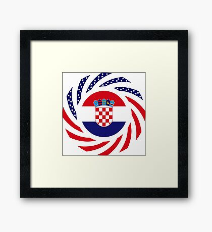 Croatian American Multinational Patriot Flag Series Framed Print