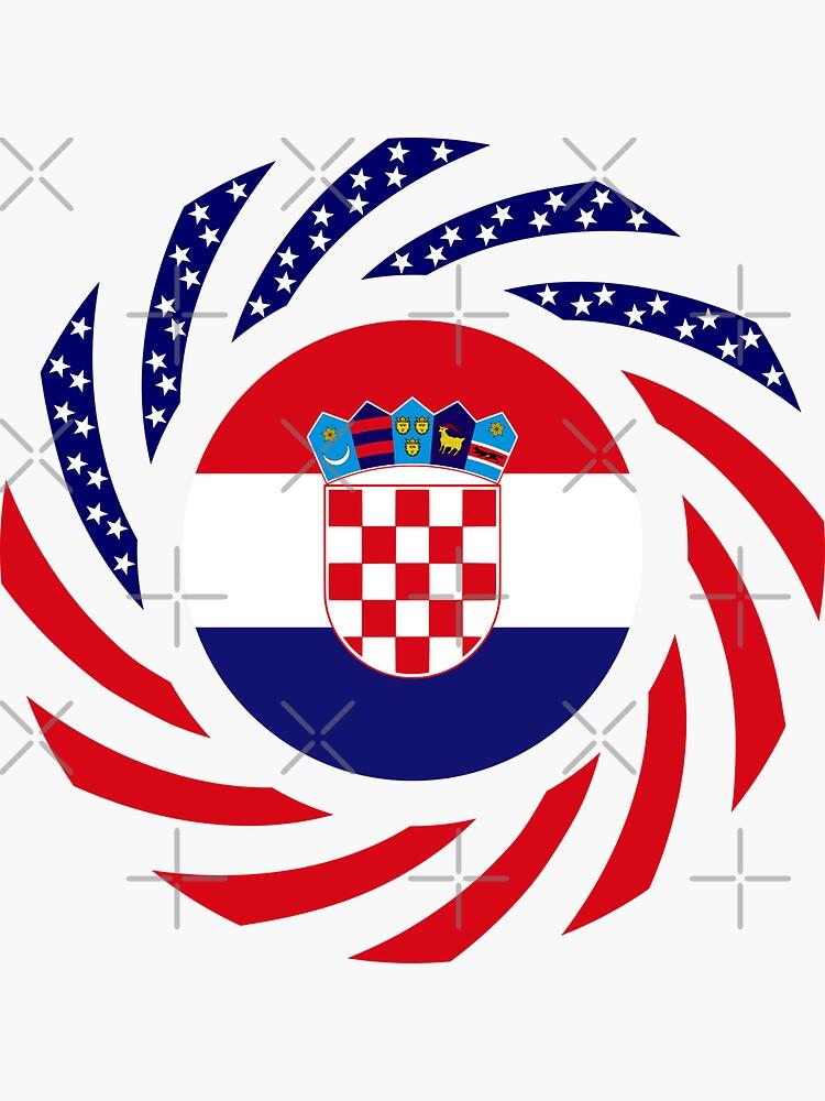 Croatian American Multinational Patriot Flag Series by carbonfibreme