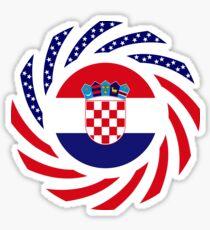 Croatian American Multinational Patriot Flag Series Sticker