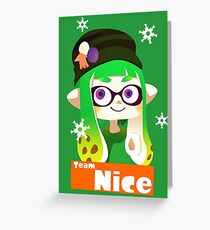 Splatfest Team Nice v.2 Greeting Card
