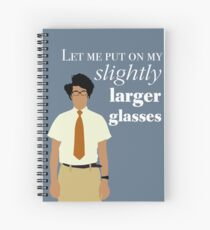 It Crowd - Maurice Moss Glasses Spiral Notebook