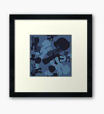 Brony Military Navy Camo Framed Print