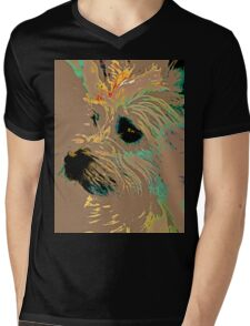 The Terrier Mens V-Neck T-Shirt