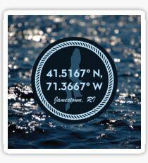 Jamestown Coordinates Sticker