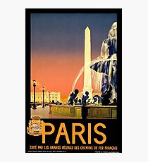 Vintage poster - Paris Photographic Print