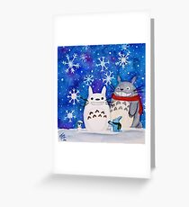 Totoro Winter Wonderland  Greeting Card