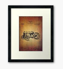 Vintage Ford tractor patent Framed Print