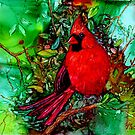 Cardinal In the Tree by Brenda Thour