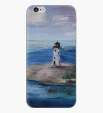 Nassau Harbour Lighthouse Original Painting iPhone Case
