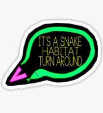 Liam Snake Habitat Tweet Design Sticker