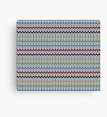 Knitted Canvas Print