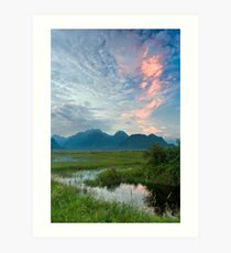 The Pitt River and Coast Mountains Art Print