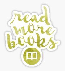 READ MORE BOOKS (GOLD) Sticker