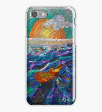 Water Spout: Water over the Bridge, by Alma Lee iPhone Case/Skin
