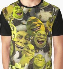 Shrek-Collage Grafik T-Shirt