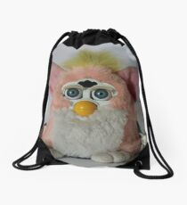 Pink Furby  Drawstring Bag