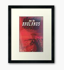Into The Badlands, red. Framed Print