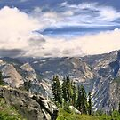 half dome panorama by Bruce  Dickson