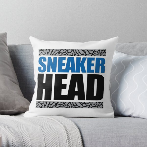 Sneakerhead - Sports Blue Cement Throw Pillow