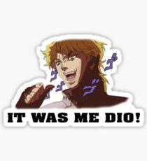 JoJo's Bizarre Adventure: IT WAS ME DIO! (With Icons) Sticker