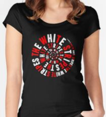 White Stripes Whirlpool Women's Fitted Scoop T-Shirt
