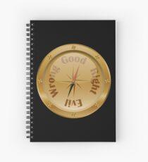 Moral Compass - Steampunk Spiral Notebook
