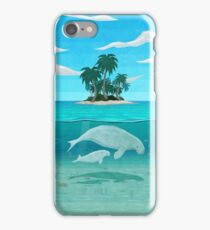Manatee Island iPhone Case/Skin