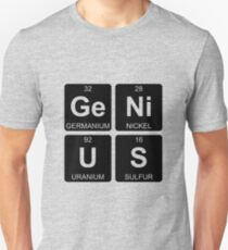 Ge Ni U S - Genius - Periodic Table - Chemistry T-Shirt
