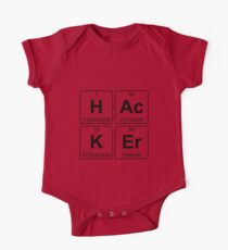 H Ac K Er - Hacker - Periodic Table - Chemistry One Piece - Short Sleeve