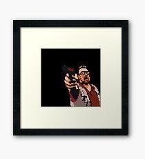John Goodman 8-bit Framed Print