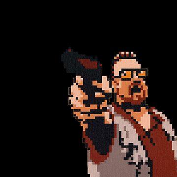 John Goodman 8-bit by Cristianvan
