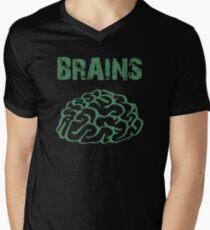 BRAINS by Zombie Ghetto Men's V-Neck T-Shirt