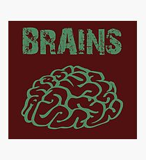 BRAINS by Zombie Ghetto Photographic Print
