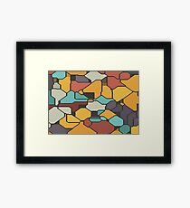 Colorful pieces Framed Print