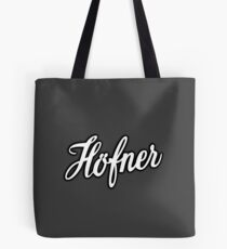 Hofner White Color Tote Bag