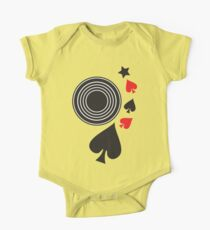 RECORD and star poker suits One Piece - Short Sleeve