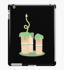 Green birthday cake with candle twirls iPad Case/Skin