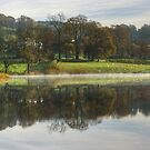 Esthwaite Water in Autumn by Jamie  Green