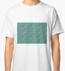 Doodles on a green background Classic T-Shirt