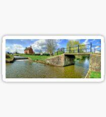 Papercourt Lock Panorama - HDR Sticker