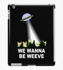X-Files Cats Wanna Be Weeve iPad Case/Skin