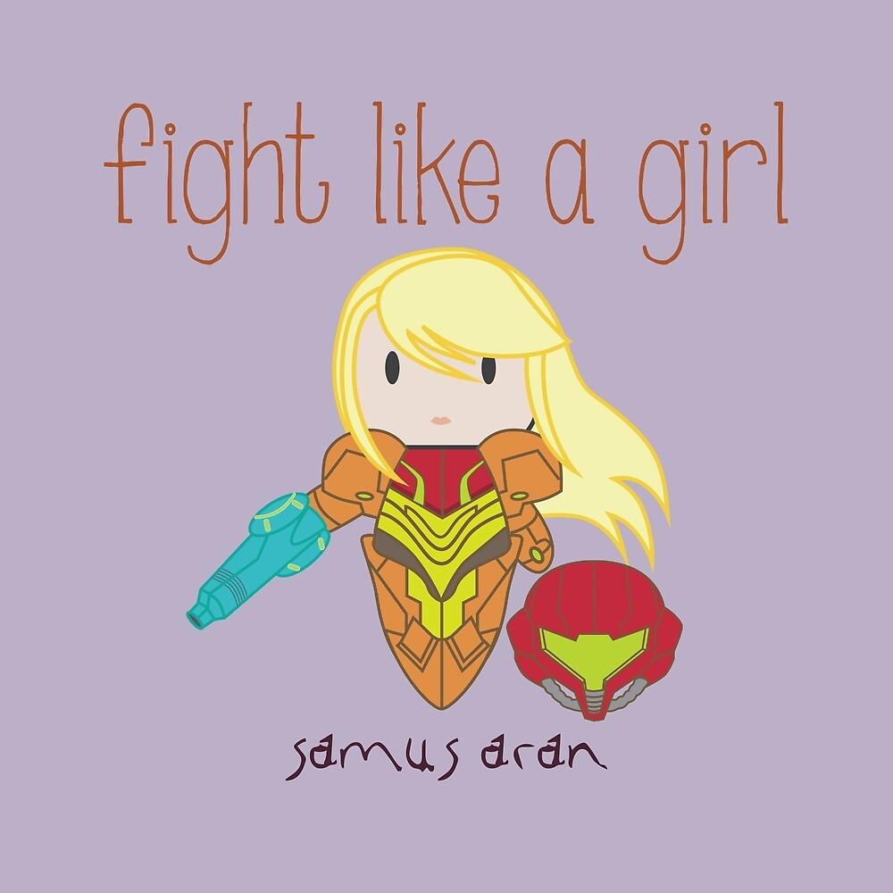 Fight Like a Girl - Intergalatic Bounty Hunter by isasaldanha