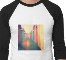 Beach Huts 02D - Retro Men's Baseball ¾ T-Shirt