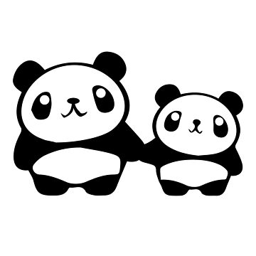 Cute Pandas holding hands by tunevisuals
